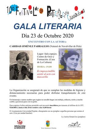 10º Festival de la participación ciudadana. Gala literaria, 23 de octubre a las 19:00 horas.