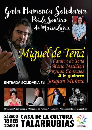 Gala flamenca solidaria por la sonrisa de Mª Luisa