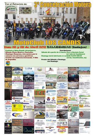3ª Concentración motera 'MotoClub los Candis'.