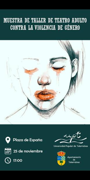 Taller de teatro adulto contra la violencia de género. 25 de noviembre, a las 17:00 horas.