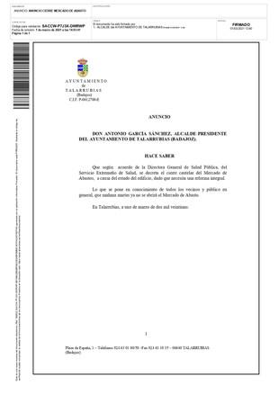 CIERRE MERCADO DE ABASTO.