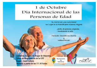 Día internacional de las personas de edad.