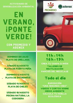 Actividad de sensibilización ambiental en la playa de Puerto Peña.