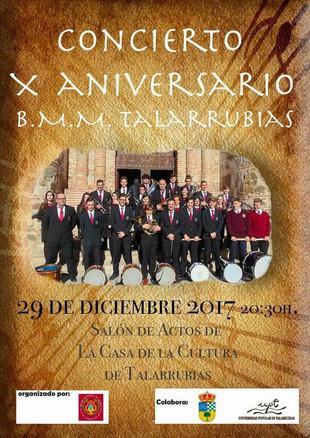Concierto X aniversario BMM Talarrubias.
