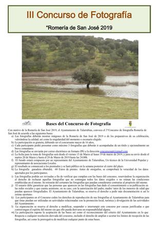 III Concurso de fotografía 'Romería de San José 2019'.