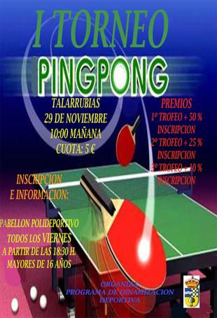 I Torneo de Ping Pong.