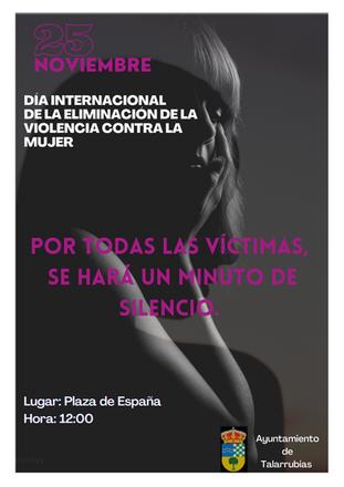 DÍA INTERNACIONAL CONTRA LA VIOLENCIA DE GÉNERO, 25 DE NOVIEMBRE.