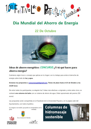 10º Festival de la Participación Ciudadana. Día Mundial del Ahorro de Energía, 22 de Octubre.
