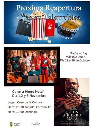 Próxima reapertura cine en Talarrubias.