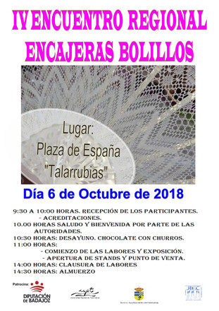 IV Encuentro Regional de Encajeras de Bolillos.