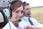 Piloten in Flugzeug