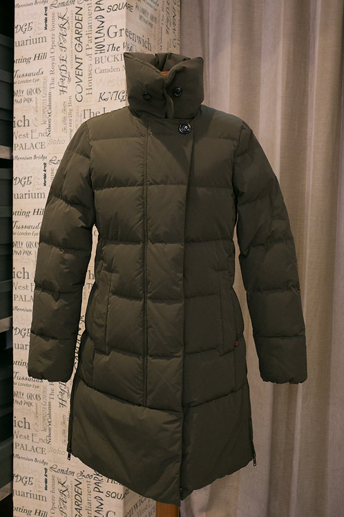 WOOLRICH QUILTED VAIL COAT DARK GREEN