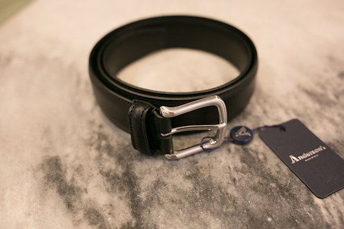 CINTURÓN ANDERSON (Made in Italy) SOFT LEATHER NEGRO