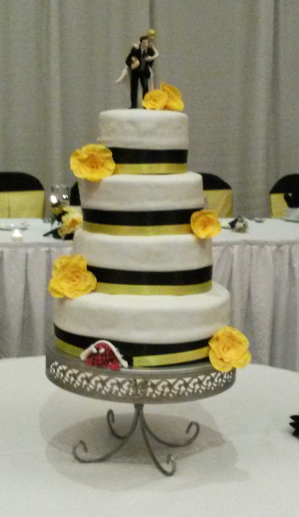 Black and Yellow cake