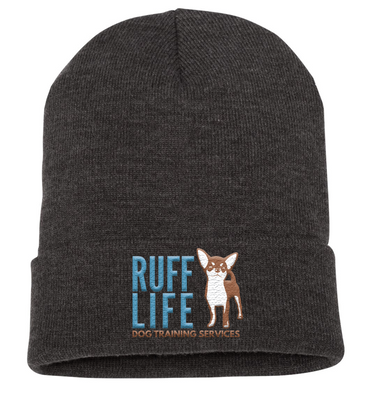Ruff Life Embroidered Beanie