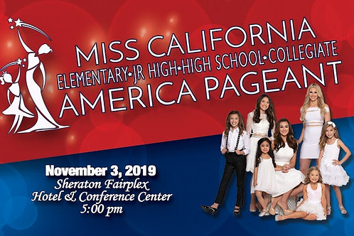 Miss California EJHC America Pageant Show Ticket
