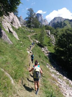 Trek Val dei Ratti - Il Manduino sullo sfondo