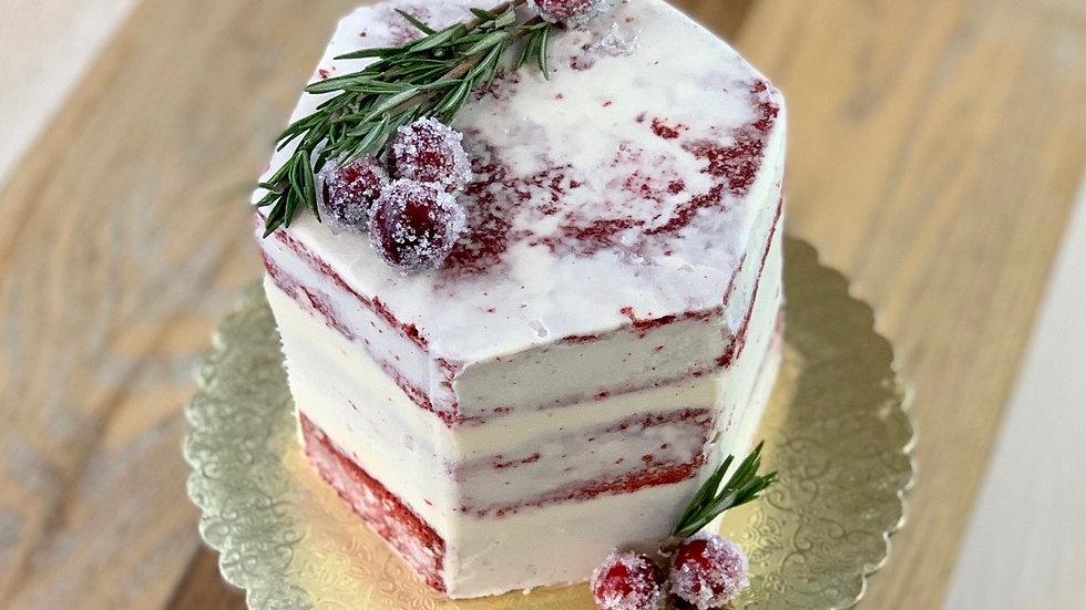 Holiday Hexagon Cake