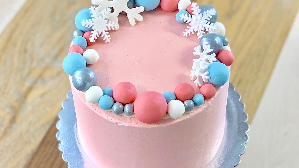 Vanilla Raspberry Champagne Cake
