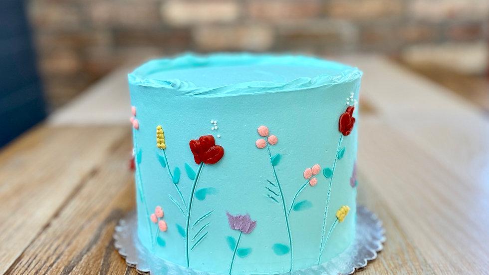 Carved Floral Cake
