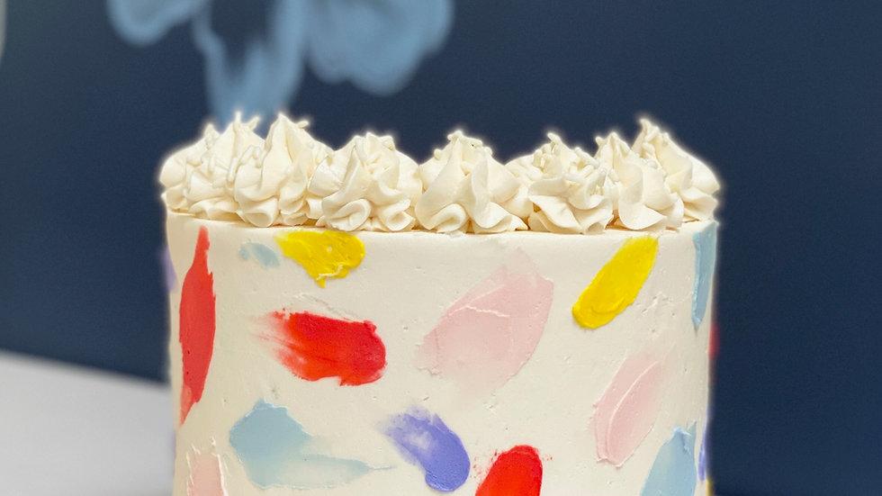 Brushed Buttercream Cake