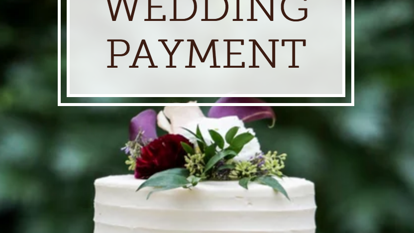 Jaclyn Jacobs Wedding Payment