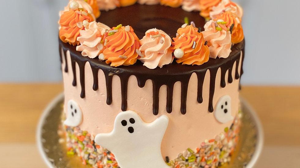 Halloween Sprinkle Drip Cake