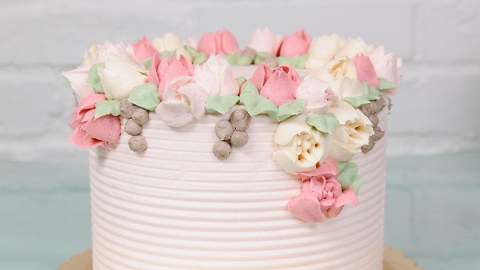 Vanilla Raspberry Rose Cake