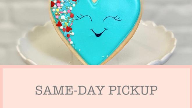 Sprinkled Heart Sugar Cookie