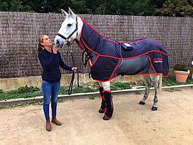 couverture massante combi pro, balnéothérapie équine, soin du cheval