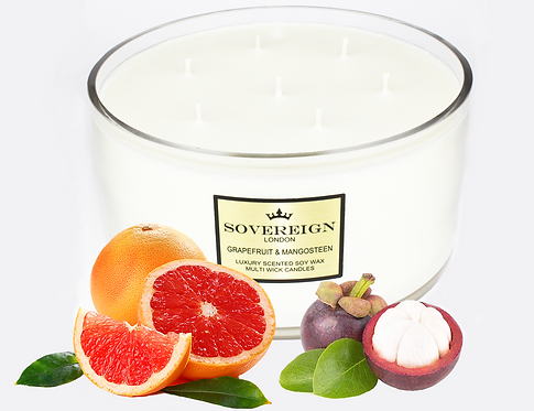 1.9KG LUXURY 7 WICK CANDLE Grapefruit and Mangosteen
