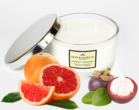 410G LUXURY 3 WICK CANDLE Grapefruit and Mangosteen