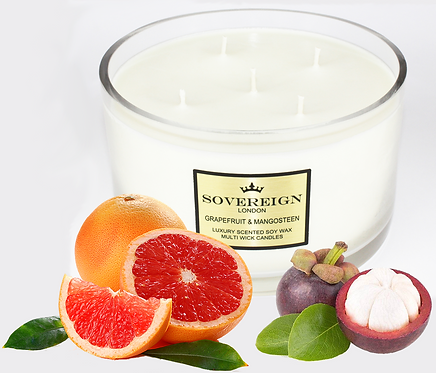 1.3KG LUXURY 5 WICK CANDLE Grapefruit and Mangosteen