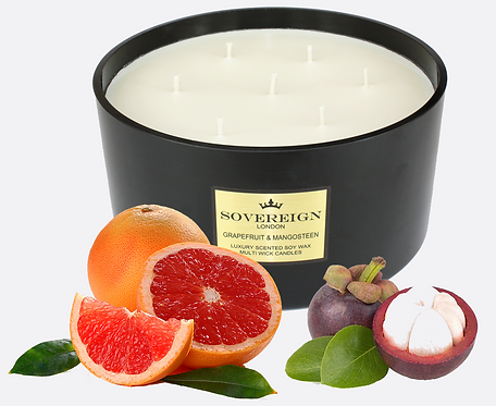 2KG LUXURY 7 WICK CANDLE Grapefruit and Mangosteen