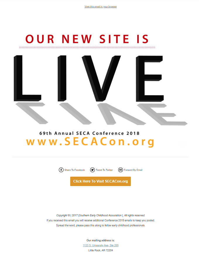 SECA New Live Site-Email Promo