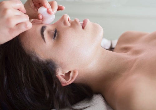 Touch Crystal Massage Viso