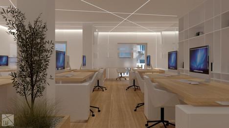 Blue Cross Office Building _ work area