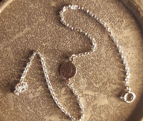 Sterling Silver Charm Ankle Bracelet