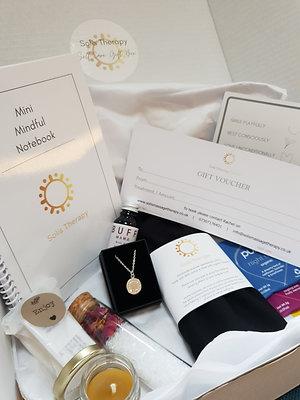 Luxury Self-Care Gift Box inc. Massage Treatment Voucher & Solis Jewellery
