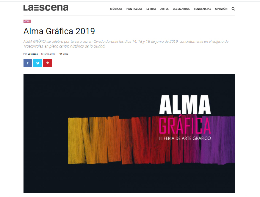 portada prensa La Escena, 2019