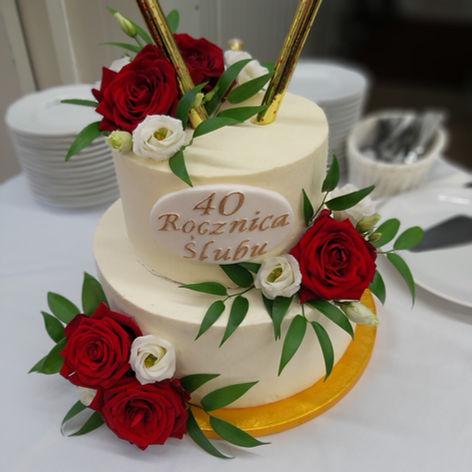 tort na rocznice golden palace róża