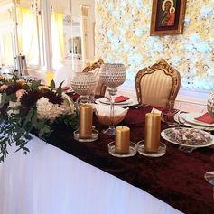 gold palace golden palace stół z krzesłami