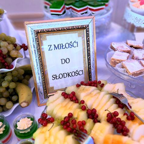 menu golden palace owoce