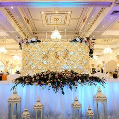 dekoracje sali weselnej golden palace kwiaty