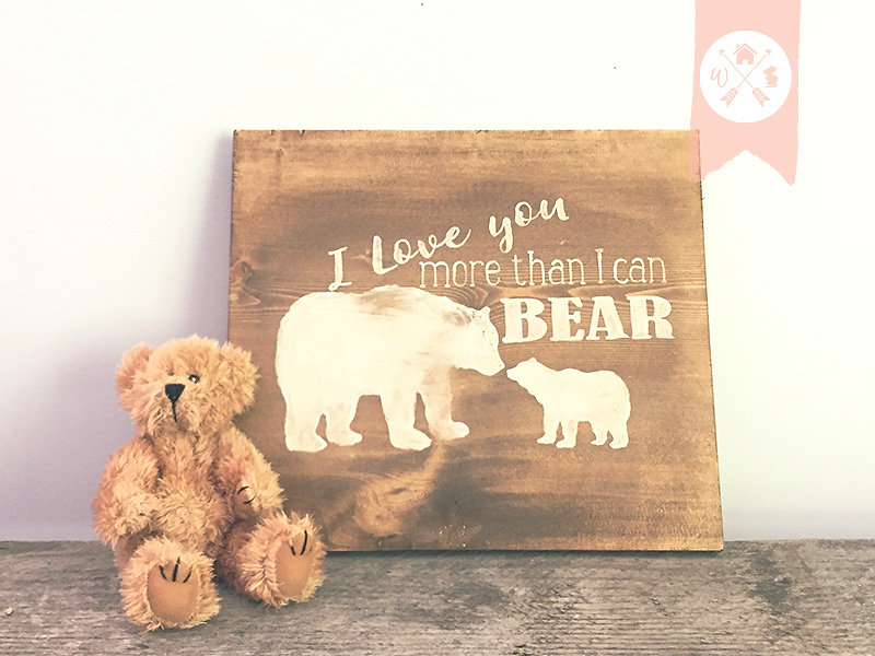 Home Decor Canada online shop I love you more than I can Bear