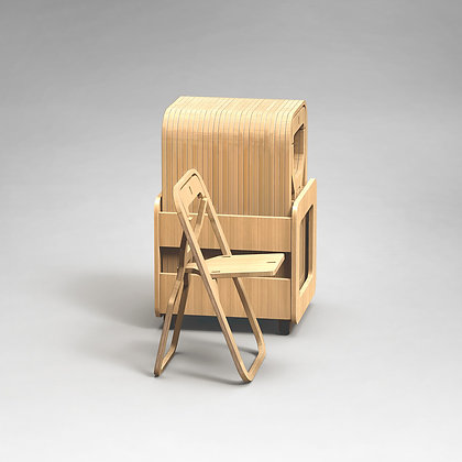 "Rack 25 chaises pliantes INFINE ""NATURAL BAMBOO"""
