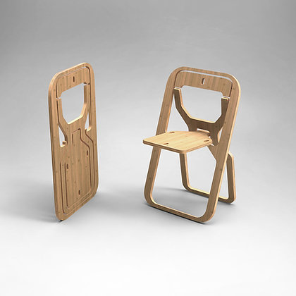 "Folding chair INFINE  "" NATURAL BAMBOO"""