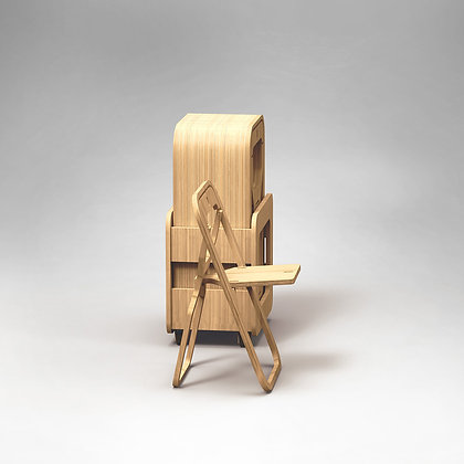 "Rack 15 chaises pliantes INFINE ""NATURAL BAMBOO"""