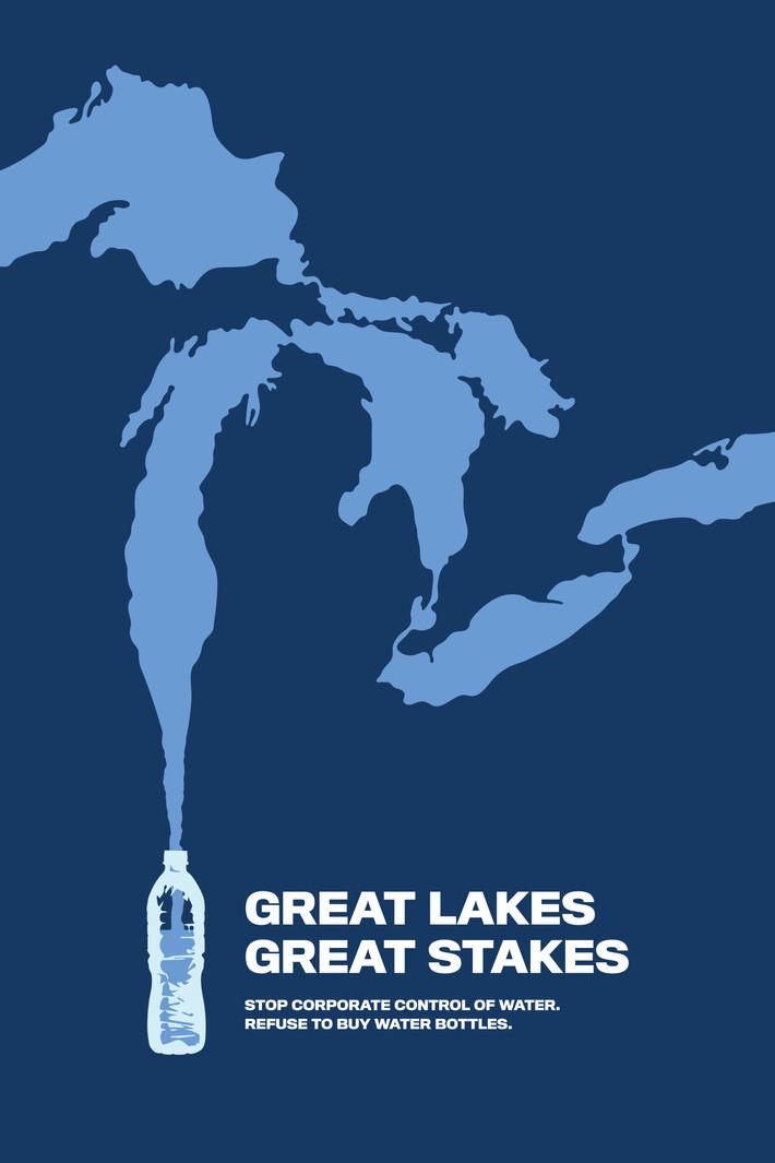 Water Bottle Poster: Image Focused