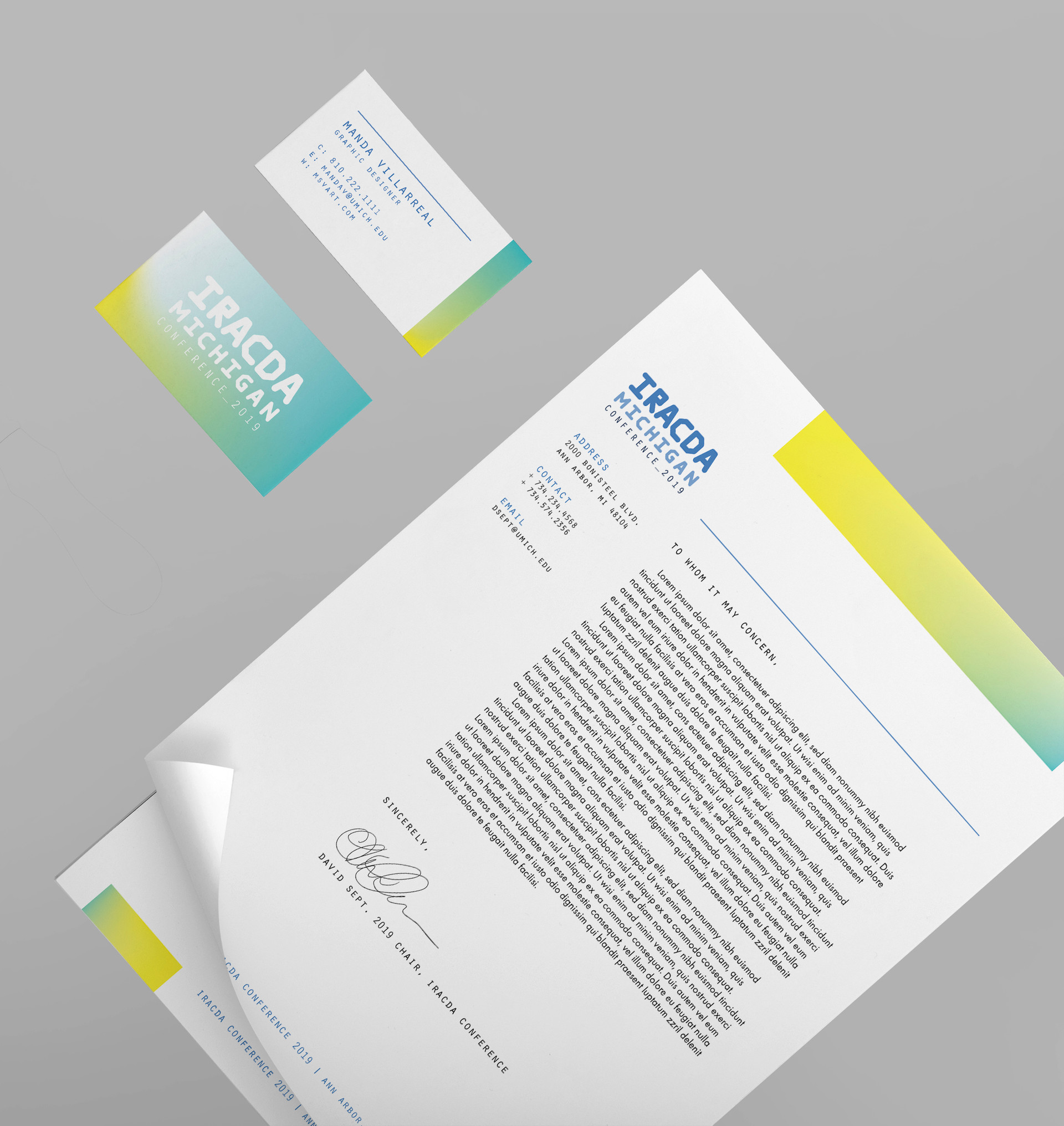 IRACDA stationery
